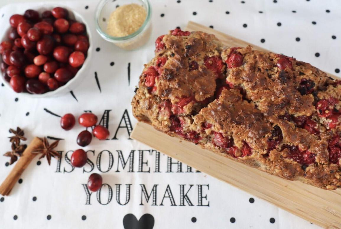 brot backen rezept cranberries